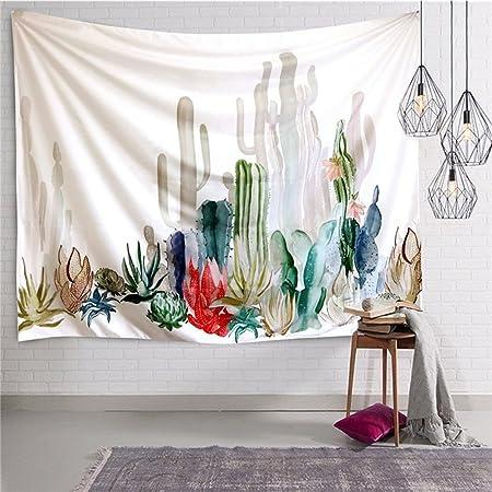 150 x 130 cm TOPBATHY arazzo da Parete con Cactus Tropicali Decorazione da Parete Moderna