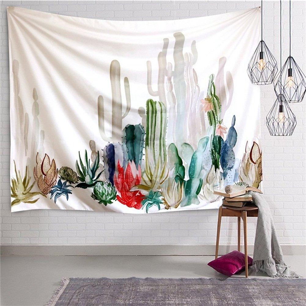 Arazzo da 150 x 200 cm da appendere al muro con deserto tropicale, luce del sole, cactus. Arazzi con Mandala indiani con stampa hippie. Arazzo, tovaglia da picnic, telo da spiaggia, per camera da letto, soggiorno, accessorio per dormitorio (HYC05), Cactus,