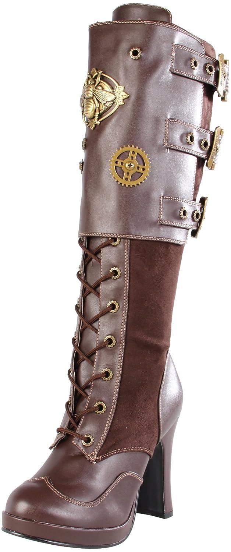 Pleaser Women's Crypto-302 Knee-High Boot B003HVMX9K 8 B(M) US|Brown Polyurethane