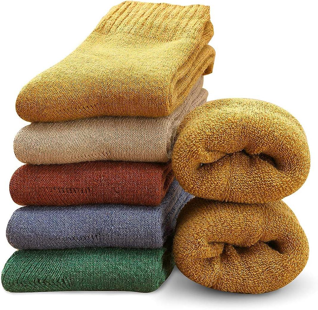 MOSOTECH Calcetines Termicos de Mujer,Calcetines de Lana Invierno Cálidos de Confort Casual,Talla única 35-41