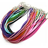 """Imitation Leather Lace Necklace Cords DIY Jewelry Making Ropes with Lobster Clasps Extended Chain 18"""" Mixcolor"""