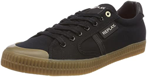 Replay Herren Moskow Sneaker, Schwarz (Black), 42 EU: Amazon
