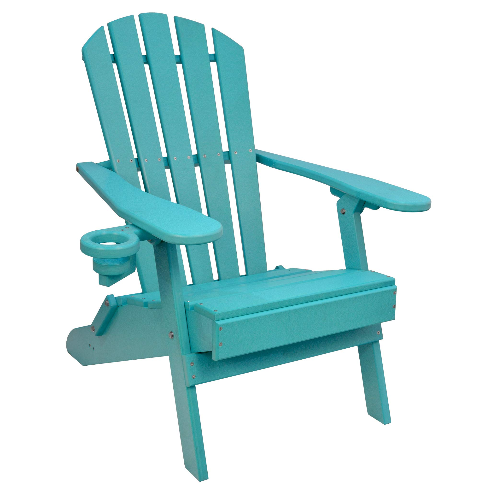 Outer Banks Value Line Poly Lumber Adirondack Chair (Aruba Blue) by ECCB Outdoor