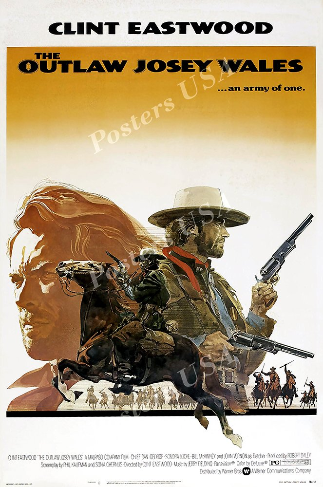 """Posters USA - Clint Eastwood The Outlaw Josey Wales Movie Poster GLOSSY FINISH - FIL078 (24"""" x 36"""" (61cm x 91.5cm))"""
