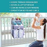 Hanging Diaper Caddy - Crib Diaper Organizer