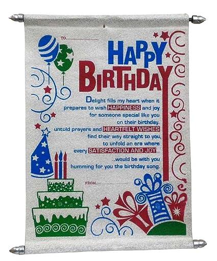 Happy Birthday Scroll Card Birthday Gifts For Girlfriend Wife
