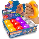 KELZ KIDZ Durable Pull and Stretch Stress Squeeze Ball - Great and Fun Squishy Party Favor Fidget Toy - Excellent Sensory Relief for Tension and Anxiety (12 Pack, Large)