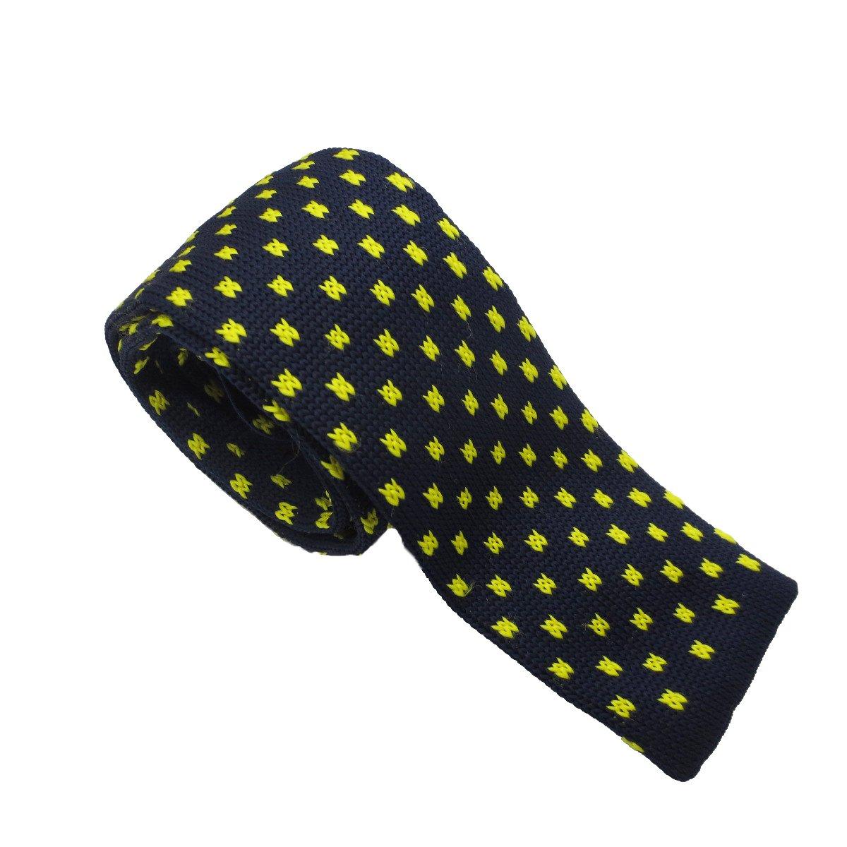 Szeagle Corbata de hombre de poliéster con diseño de puntos ...