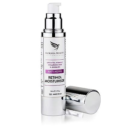 Crema Hidratante Anti-Edad con Retinol Para Cara - 50ml Natural [Made in U.K