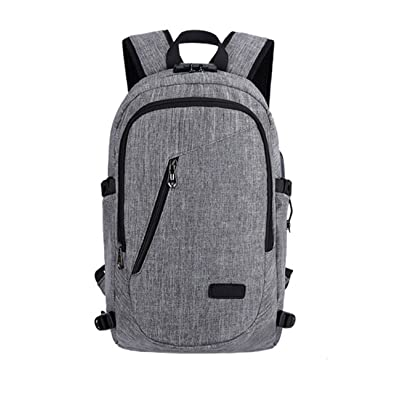 free shipping Theftproof Business Backpack With USB Charging headphones for Men and boys, Anti Theft Business Laptop Backpack With USB Charging Headphones Port For 15.6-Inch Laptop
