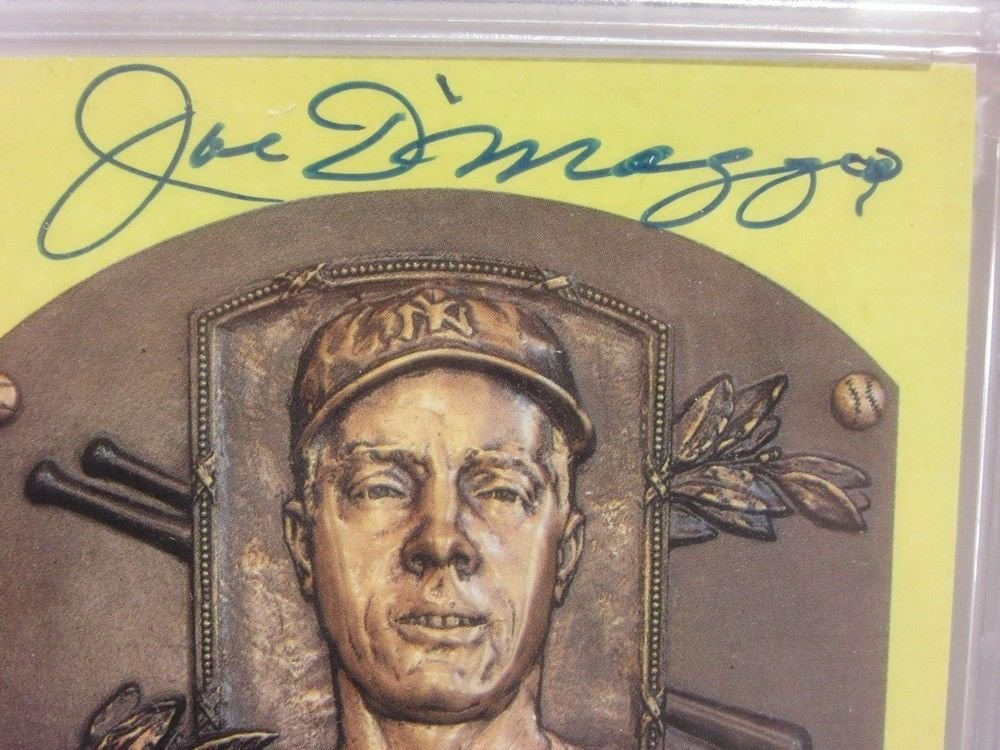 Joe Dimaggio Autographed Signed Framed Yankees Postcard Magazine Cover PSA/DNA Authentic