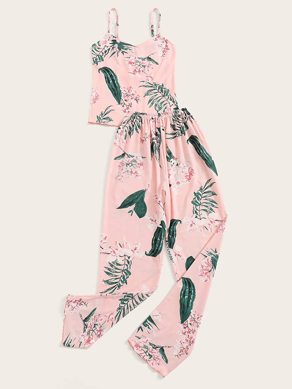 Milumia Womens 2pcs Pajama Set Sleeveless Cami Top and Shorts Sleepwear