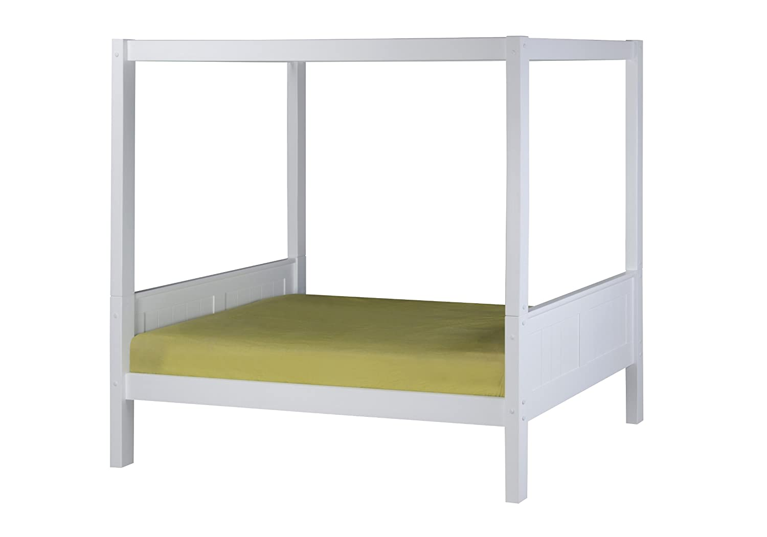 Amazon.com Camaflexi Panel Style Solid Wood Canopy Bed - Twin Natural Kitchen u0026 Dining  sc 1 st  Amazon.com & Amazon.com: Camaflexi Panel Style Solid Wood Canopy Bed - Twin ...