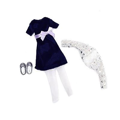 Lottie Blue Velvet Doll Outfit: Toys & Games