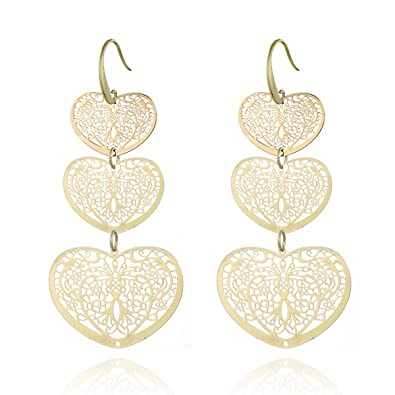 Rose Gold Plated CZ Crystal Endless Love Shape Hook Drop Earrings