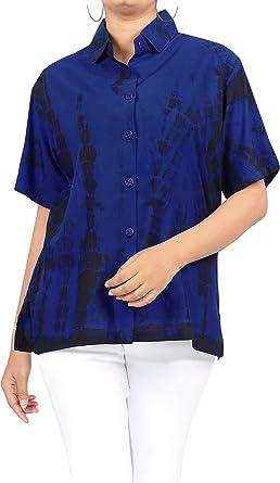 LA LEELA Atar Las Camisas de Tinte para el botón de Las ...