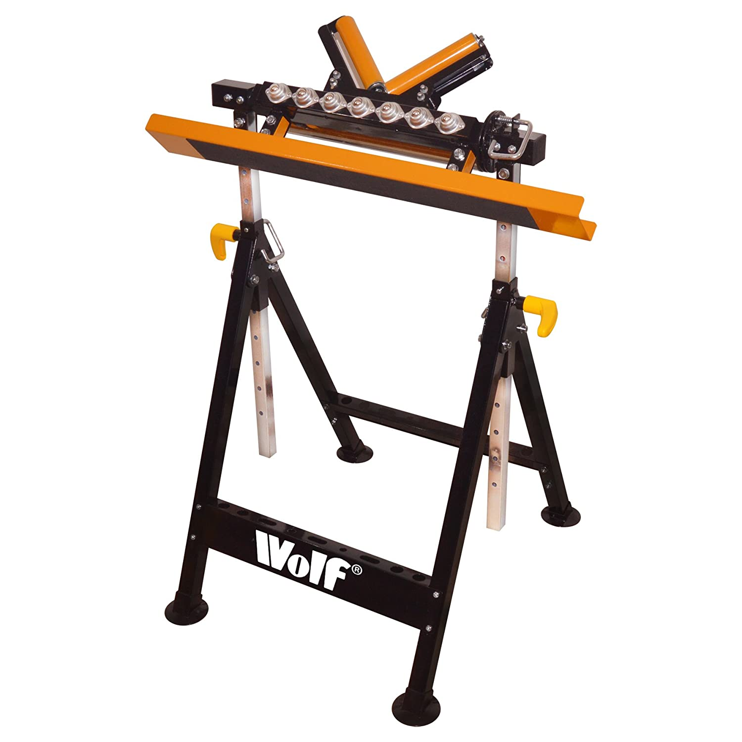 Wolf Combi Adjustable Workbench Workmate Trestle Table 4 Way Stand - Horizontal, V', Ball Roller, Trestle - 2 Year Warranty V'