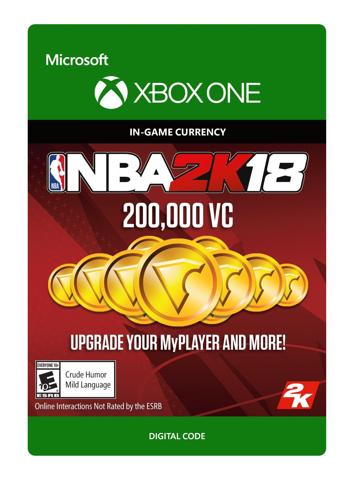 NBA 2K18: 200,000 VC - Xbox One [Digital Code] by 2K Games
