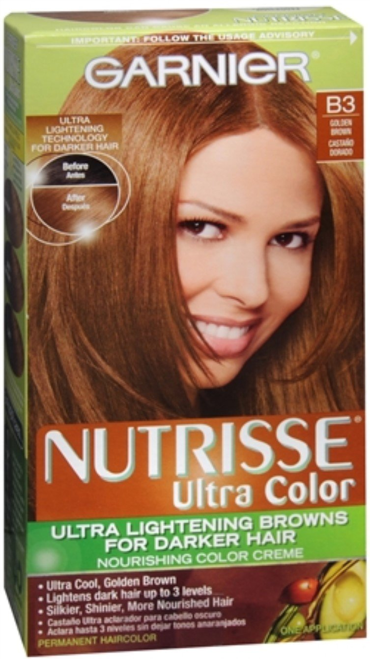 Garnier Nutrisse Haircolor Nutri-Browns - B3 Cafe Con Leche (Golden Brown) 1 Each (Pack of 9)