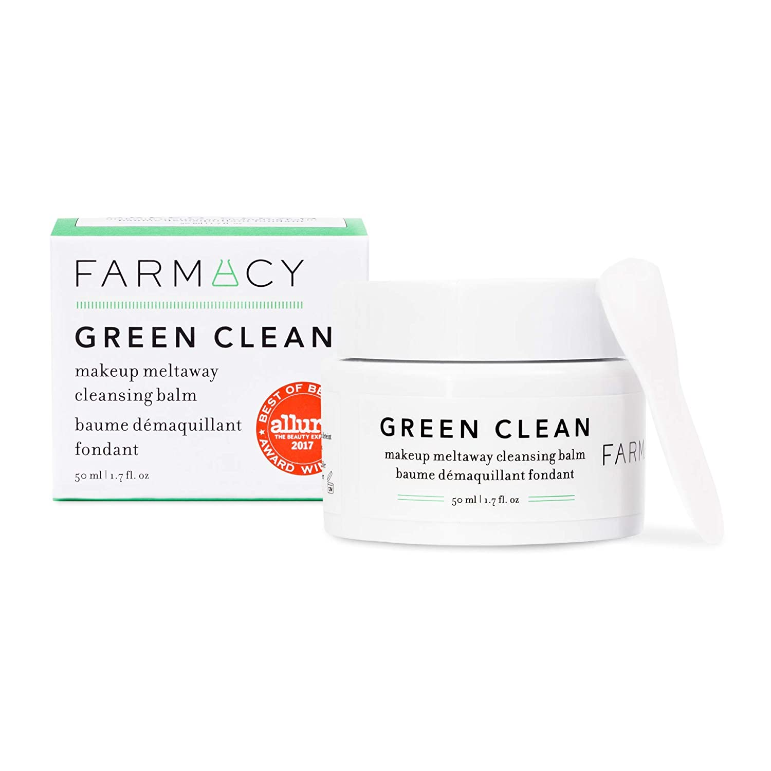 Farmacy Natural Makeup Remover - Green Clean Makeup Meltaway Cleansing Balm Cosmetic - Travel Size 1.7 oz : Beauty