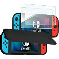 ProCase Nintendo Switch Flip Cover with 2 Pack Tempered Glass Screen Protectors, Slim Protective Flip Case with…