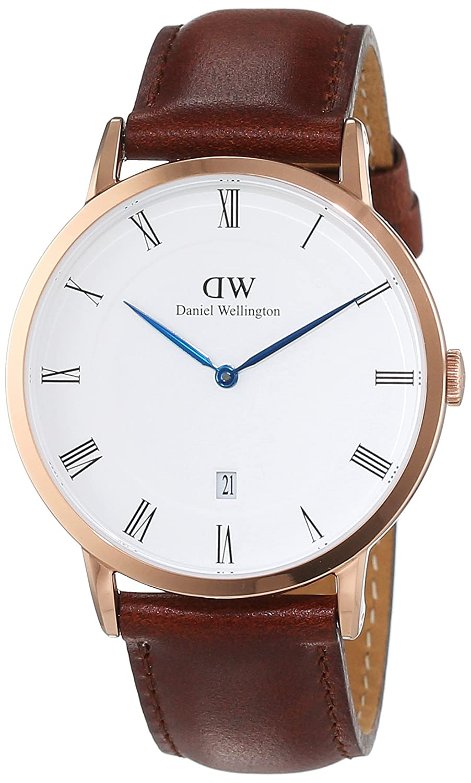 Daniel Wellington Dapper Herren-Armbanduhr Analog Quarz Leder - DW00100083