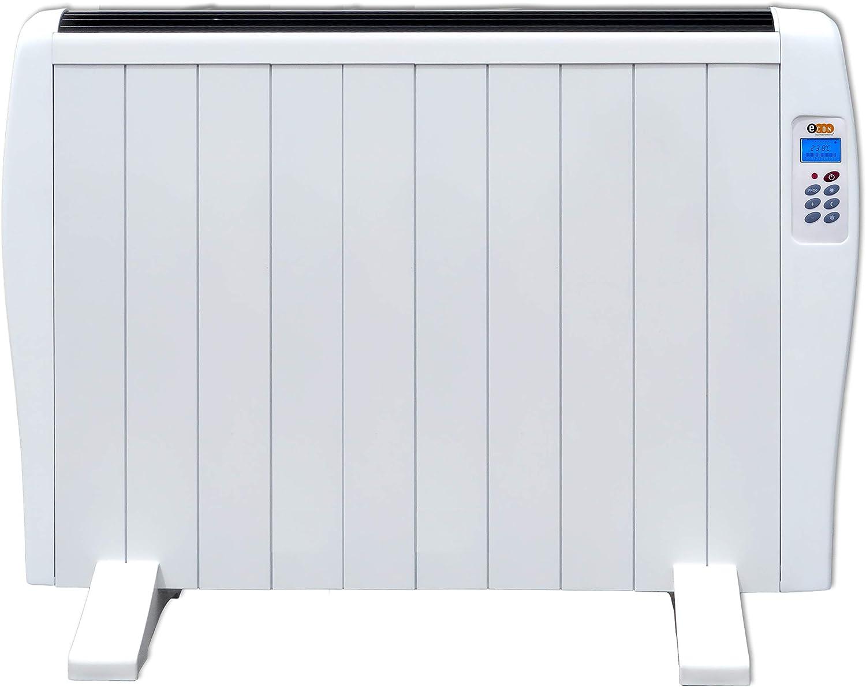 Haverland EC 10   Emisor Térmico de 10 Elementos de Aluminio 1500W   17-24m2   Bajo Consumo   Calentamiento Rápido   Temporizador   Mando a Distancia   3 Modos   Incluye Patas y Soporte para Pared.