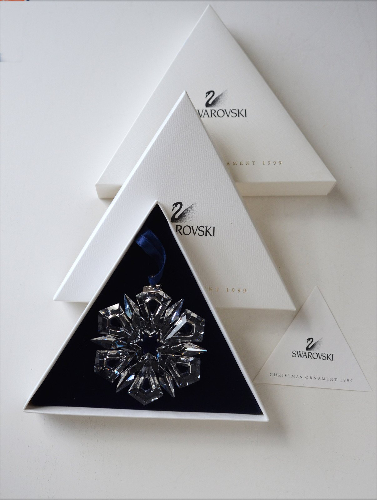 Swarovski Annual Christmas Snowflake Ornament, 1999