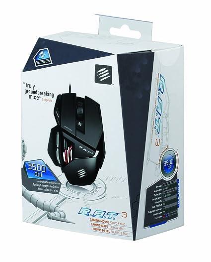 8322ccc6413 Mad Catz R.A.T.3 Mouse - Matte Black (PC DVD): Amazon.co.uk: Computers &  Accessories