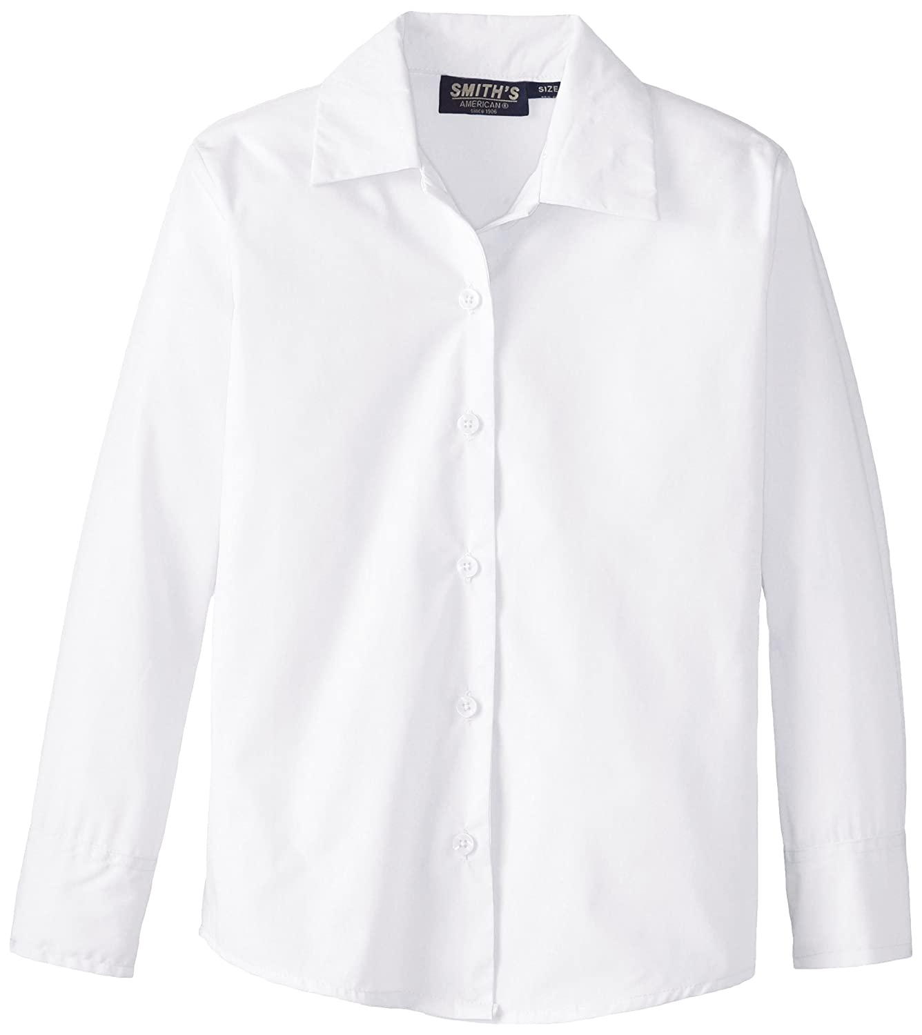 Smith's American Big Girls' Long Sleeve Pointed Collar Blouse IB50