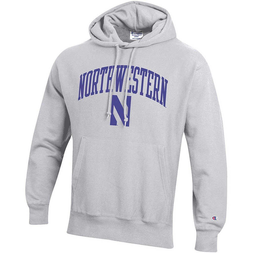 Michigan Wolverines Tackle Twill Sweatshirt Navy M B0755K6WTF Large|Northwestern Wildcats Gray Northwestern Wildcats Gray Large