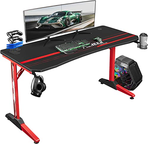 Deal of the week: Tuoze Gaming Desk 55 Inch Racing Style T Shaped Computer Table