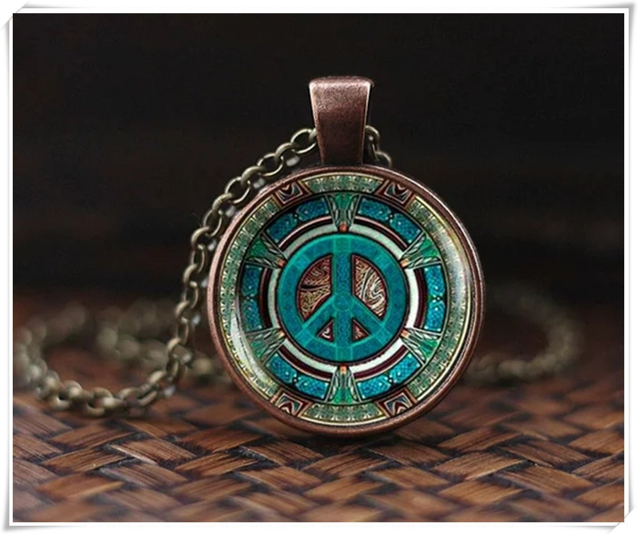 no see long time Hippie necklace, Hippie pendant, Hippie jewelry, Peace sign necklace,peace pendant, Hippie men's jewelry