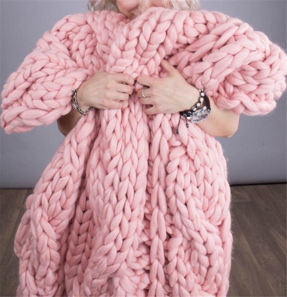 Chunky Yarn Super Bulky Giant Wool Yarn Roving For Arm Knitting Extreme Knitting (4.4lbs(2kg), Pink) by zhengjun (Image #3)