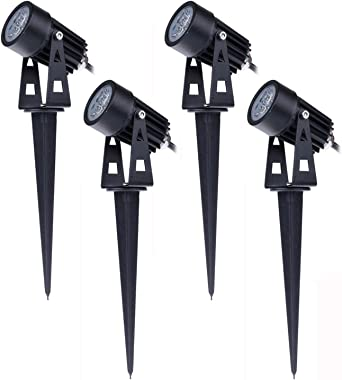 Pack de 4 Foco LEDs con Pincho para Jardín 3W 220V Luz LED para ...