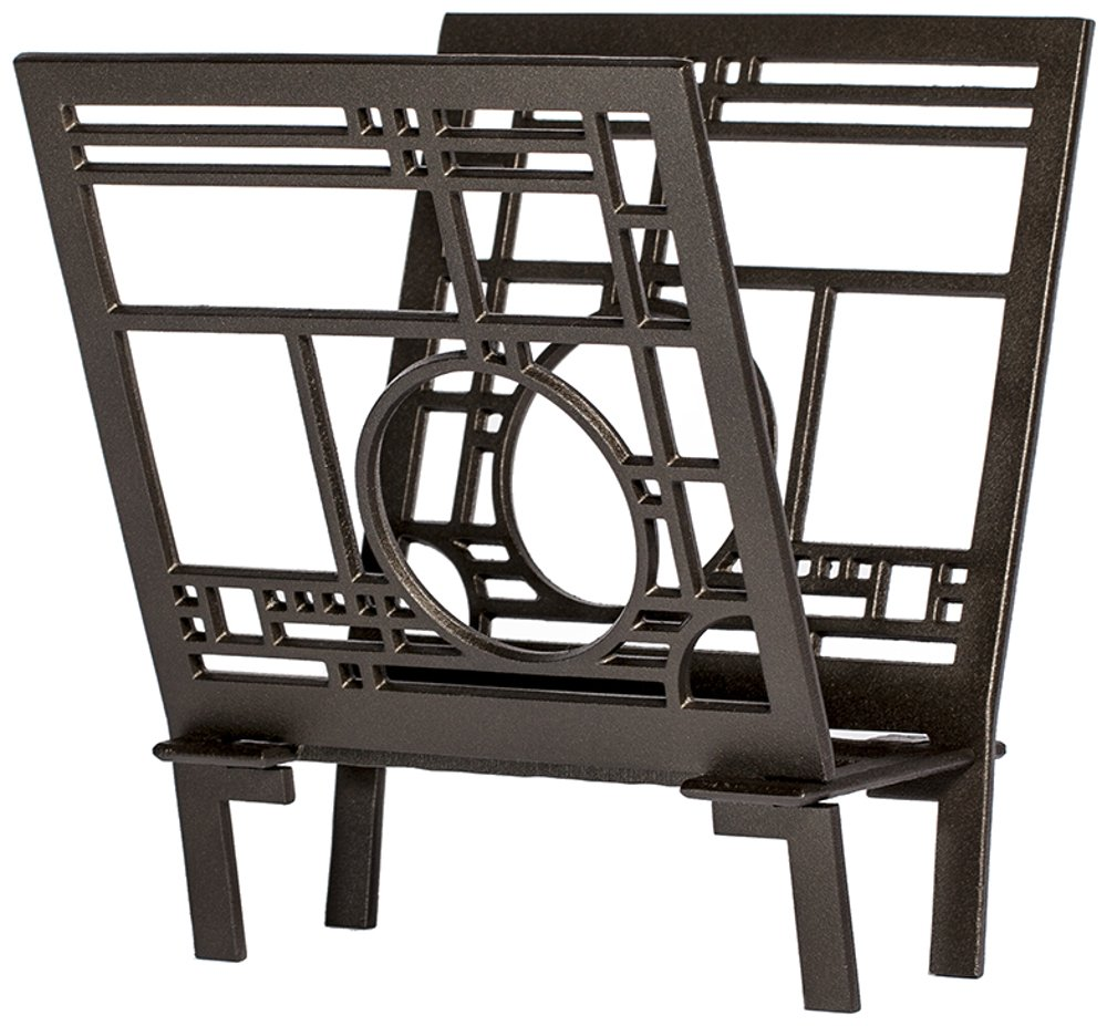 Frank Lloyd Wright Coonley Playhouse Metal Magazine Rack. by Uniart