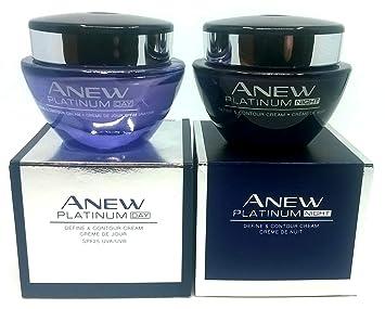 Amazoncom Avon Anew Platinum Day Cream Night Cream Set Beauty