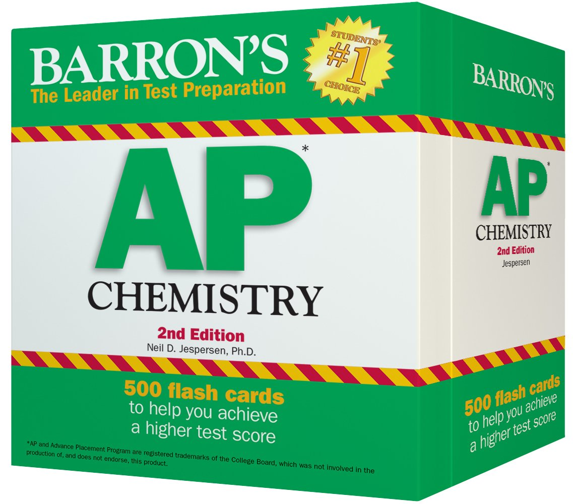 barrons ap chemistry flash cards 2nd edition