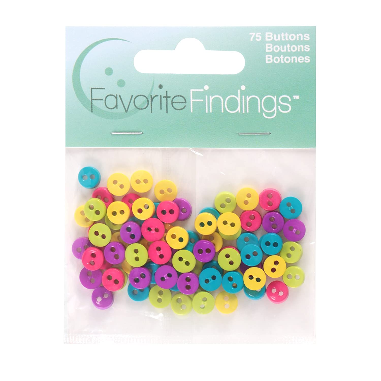 Favorite Findings Mini Buttons 75 PkgFun