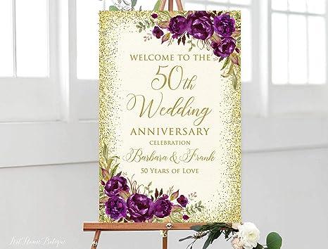 Amazon.com: Letrero de bienvenida para aniversario ...