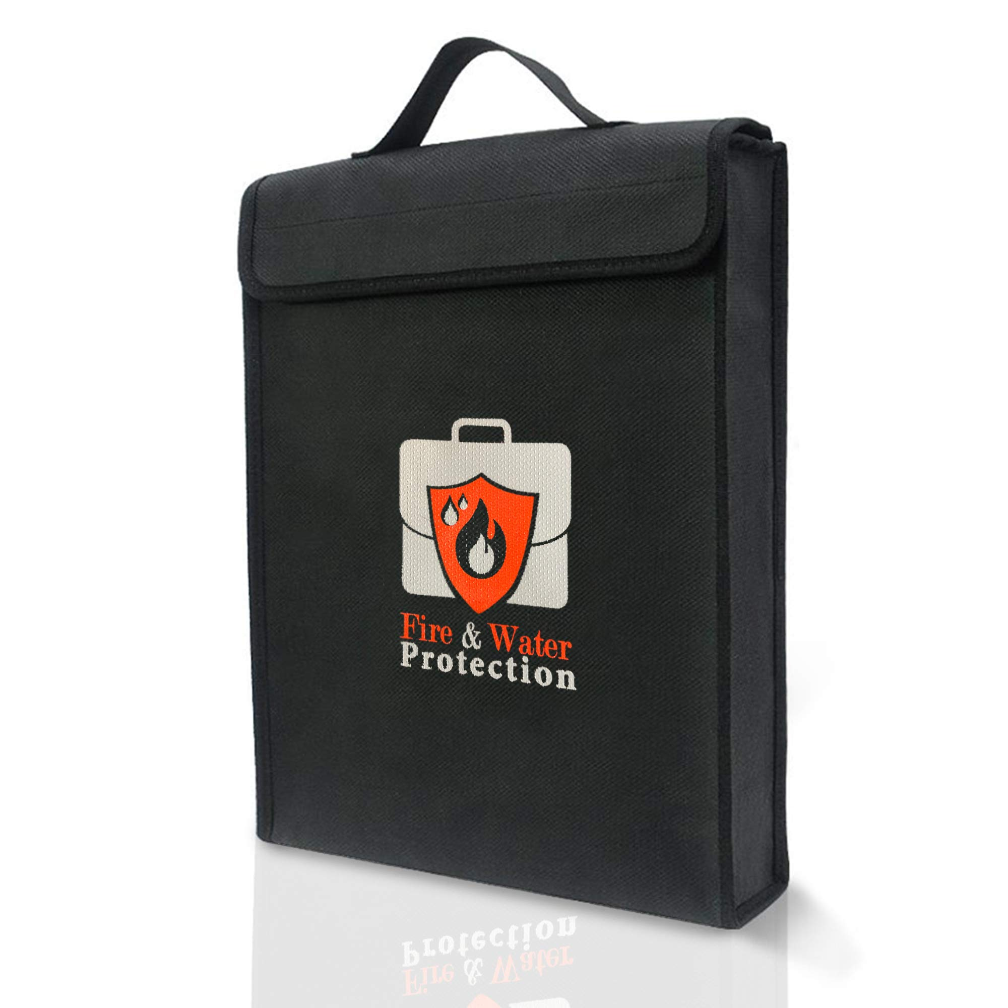 Docu-Protect Premium Fireproof Document Bag   Fire Safe Document Holder   15'' x 11'' x 1.5''   Non Itchy by Docu-Protect