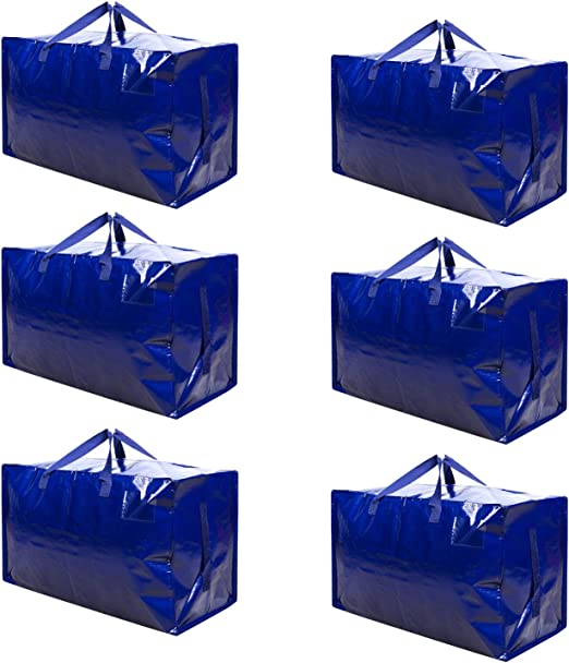 Made of Recycled Material Camping VENO Thick Over-Sized Organizer Storage Bag with Strong Handles and Zippers for Travelling 8 Packs Christmas Decorations Storage Moving College Carrying