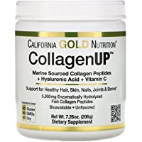 California Gold Nutrition, Collagen UP 5000, Marine Sourced Collagen Peptides, Hyaluronic Acid, Vitamin C, 7.23 oz (205 g)