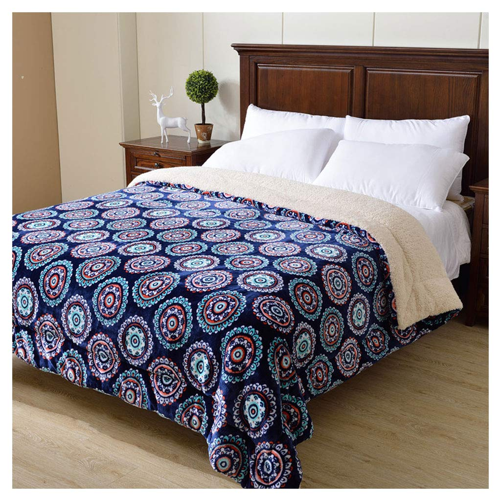 毛布を投げるスーパーソフトふわふわコージー厚い青ボヘミアンスタイルのソファーベッド毛布 (サイズ さいず : 180*220cm) B07HJ1FV3W  180*220cm