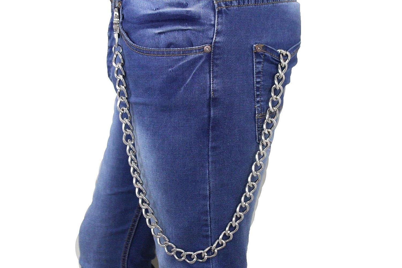 Men Silver Metal Extra Long Wallet Chain Link Strong Links Biker Jeans Trucker #ID-1963