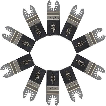 XXGO 10 Pcs Bi Metal Oscillating Multitool Blades Compatible with Bosch,  Chicago, Craftsman, Dewalt, Dremel, Fein, Harbor Freight, Makita,  Milwaukee,