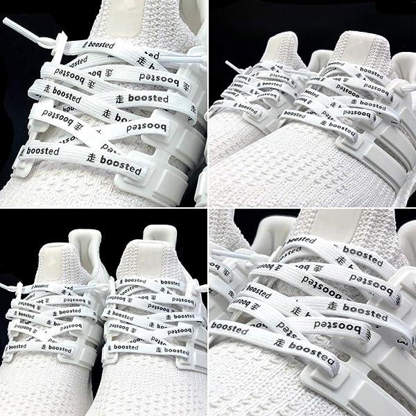 LaceHype® | Sneaker Schnürsenkel BOOSTED UP in SchwarzWeiß
