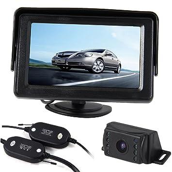 1 Kit 4.3/'/' Auto Digital LCD Display Monitor mit Nachtsicht Rückfahrkamera