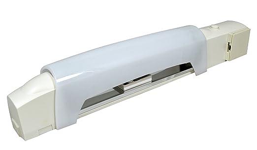 Incroyable Tibelec 312030 Applique Salle De Bain Blanche Avec Tube Led + Interrupteur,  Prise Et Diffuseur