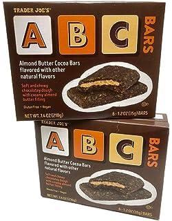 Trader Joes ABC Almond Butter Cocoa Bars - 2 Box Bundle - 12 Bars
